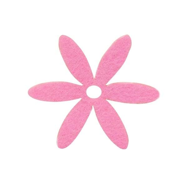 Деко фигурка цвете, филц Деко фигурка цвете, филц, 65 mm, розово