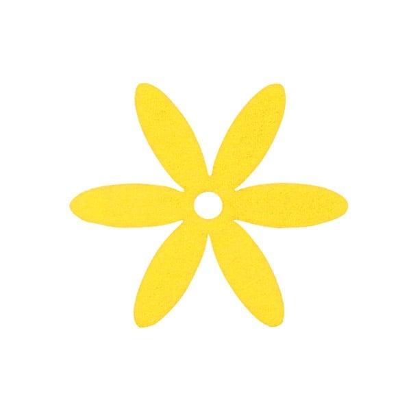 Деко фигурка цвете, филц Деко фигурка цвете, филц, 65 mm, светло жълто