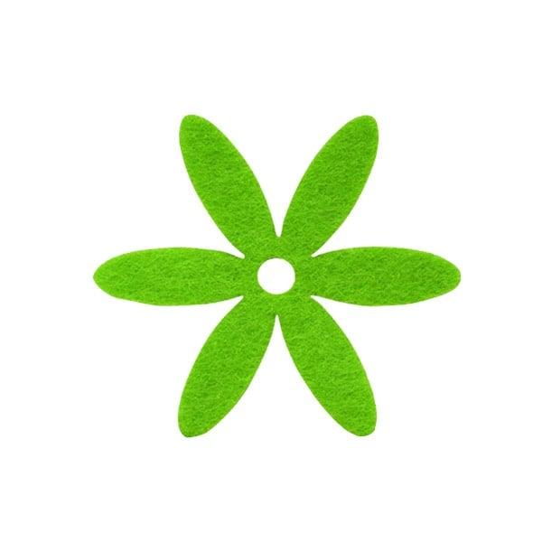 Деко фигурка цвете, филц Деко фигурка цвете, филц, 65 mm, тревно зелено