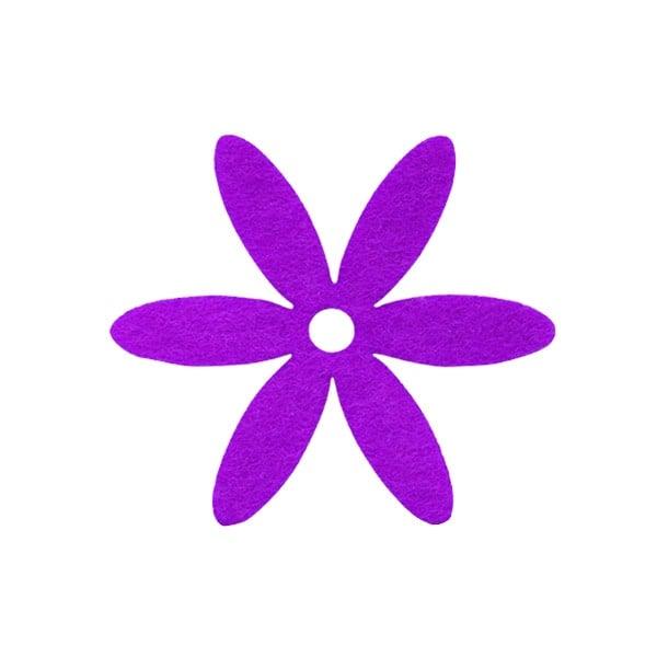 Деко фигурка цвете, филц Деко фигурка цвете, филц, 65 mm, виолетово