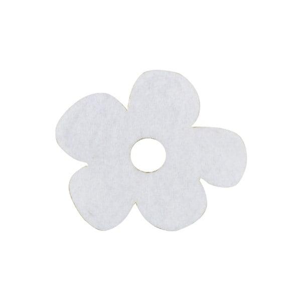 Деко фигурка цвете с извивки, филц Деко фигурка цвете с извивки, филц, 20 mm, бяло