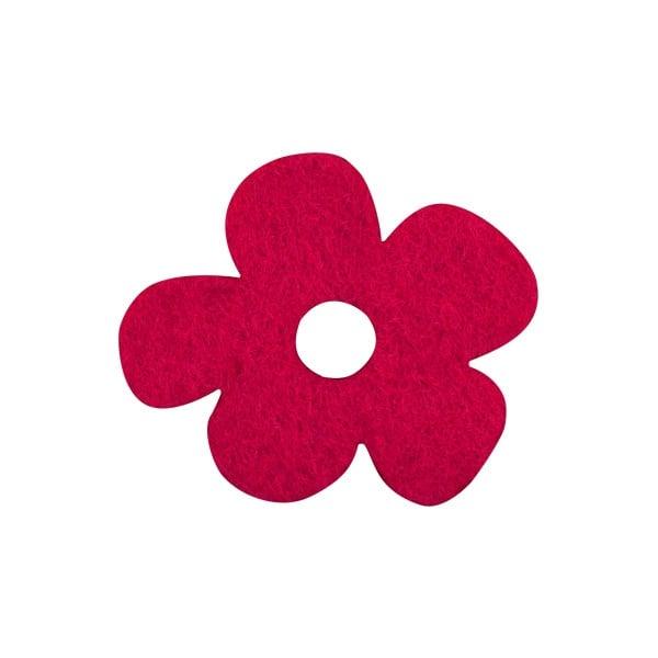 Деко фигурка цвете с извивки, филц Деко фигурка цвете с извивки, филц, 20 mm, червено