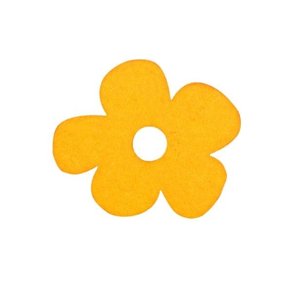 Деко фигурка цвете с извивки, филц Деко фигурка цвете с извивки, филц, 20 mm, жълто