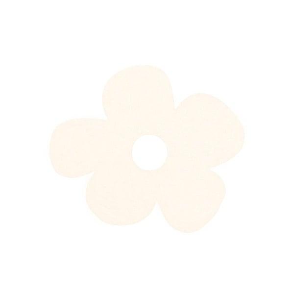Деко фигурка цвете с извивки, филц Деко фигурка цвете с извивки, филц, 20 mm, кремаво