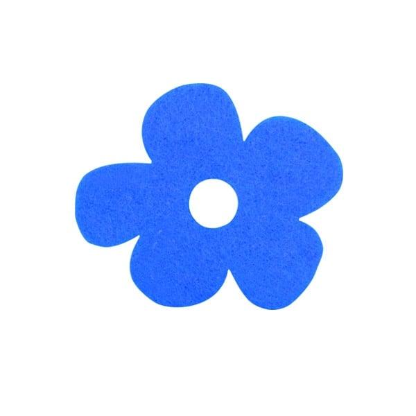 Деко фигурка цвете с извивки, филц Деко фигурка цвете с извивки, филц, 20 mm, лилаво