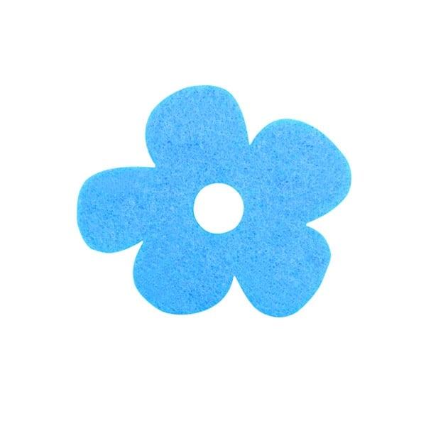 Деко фигурка цвете с извивки, филц Деко фигурка цвете с извивки, филц, 20 mm, небесно синьо