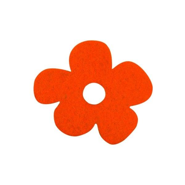 Деко фигурка цвете с извивки, филц Деко фигурка цвете с извивки, филц, 20 mm, оранжево