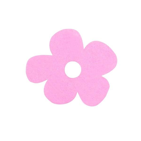 Деко фигурка цвете с извивки, филц Деко фигурка цвете с извивки, филц, 20 mm, розово