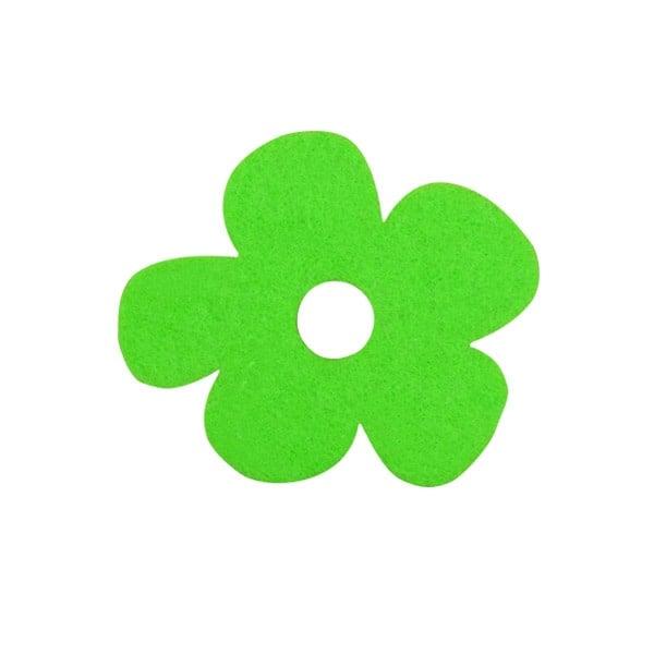 Деко фигурка цвете с извивки, филц Деко фигурка цвете с извивки, филц, 20 mm, тревно зелено