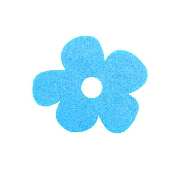 Деко фигурка цвете с извивки, филц Деко фигурка цвете с извивки, филц, 20 mm, турско синьо