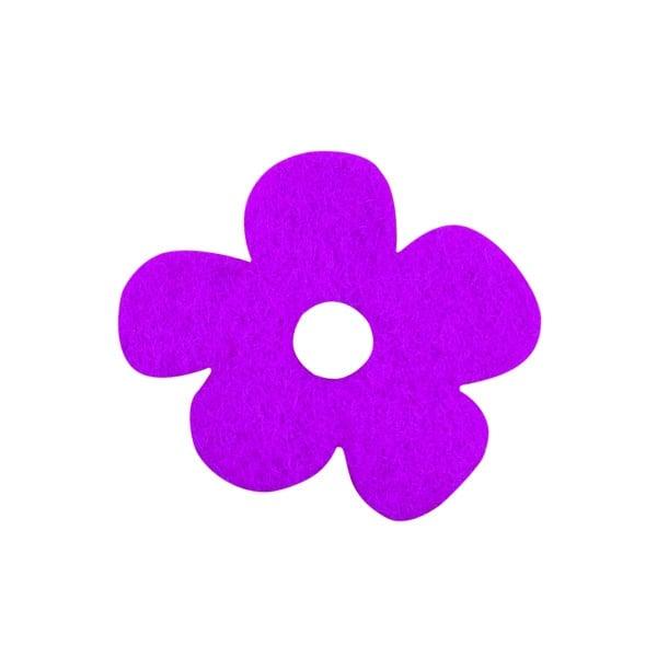Деко фигурка цвете с извивки, филц Деко фигурка цвете с извивки, филц, 20 mm, виолетово
