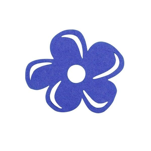 Деко фигурка цвете с извивки, филц Деко фигурка цвете с извивки, филц, 30 mm, лилаво