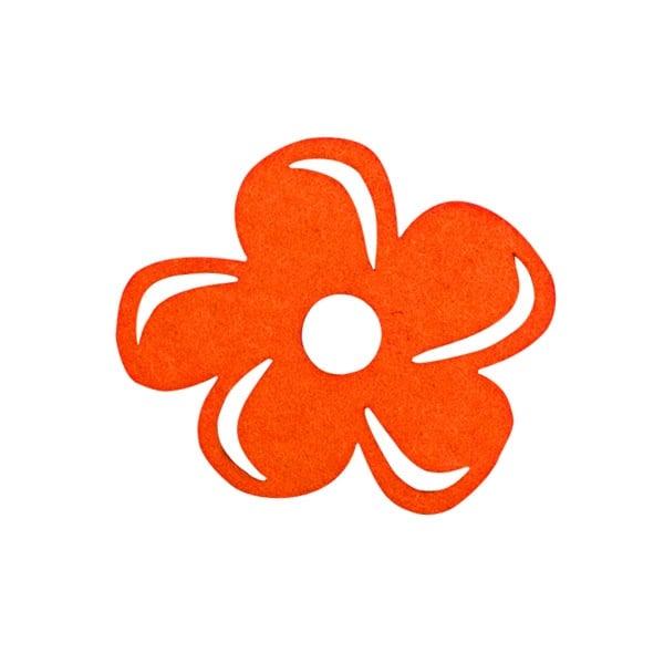 Деко фигурка цвете с извивки, филц Деко фигурка цвете с извивки, филц, 30 mm, оранжево