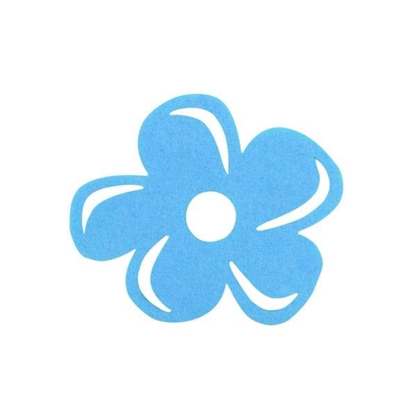 Деко фигурка цвете с извивки, филц Деко фигурка цвете с извивки, филц, 40 mm, небесно синьо