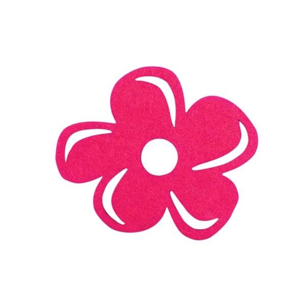 Деко фигурка цвете с извивки, филц Деко фигурка цвете с извивки, филц, 40 mm, прасковено