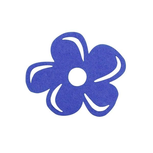Деко фигурка цвете с извивки, филц Деко фигурка цвете с извивки, филц, 50 mm, лилаво