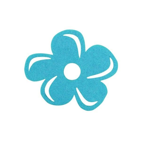 Деко фигурка цвете с извивки, филц Деко фигурка цвете с извивки, филц, 50 mm, турско синьо