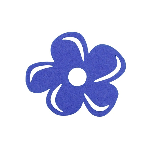 Деко фигурка цвете с извивки, филц Деко фигурка цвете с извивки, филц, 60 mm, лилаво