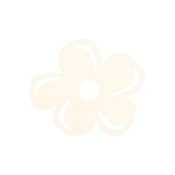 Деко фигурка цвете с извивки, филц Деко фигурка цвете с извивки, филц, 80 mm, кремаво