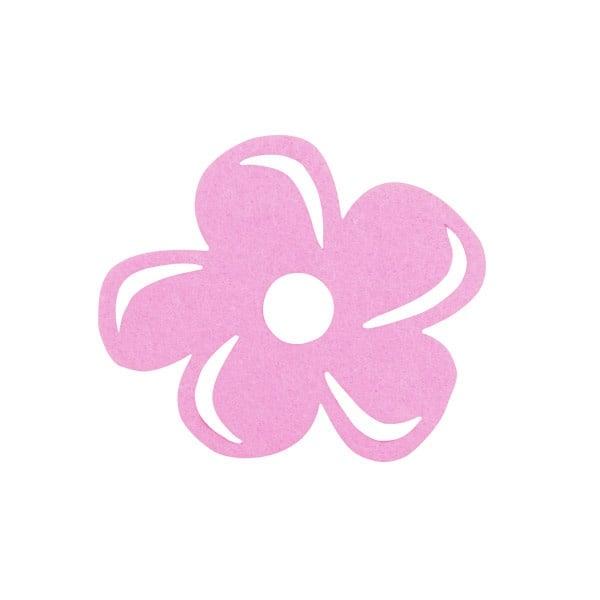 Деко фигурка цвете с извивки, филц Деко фигурка цвете с извивки, филц, 80 mm, розово