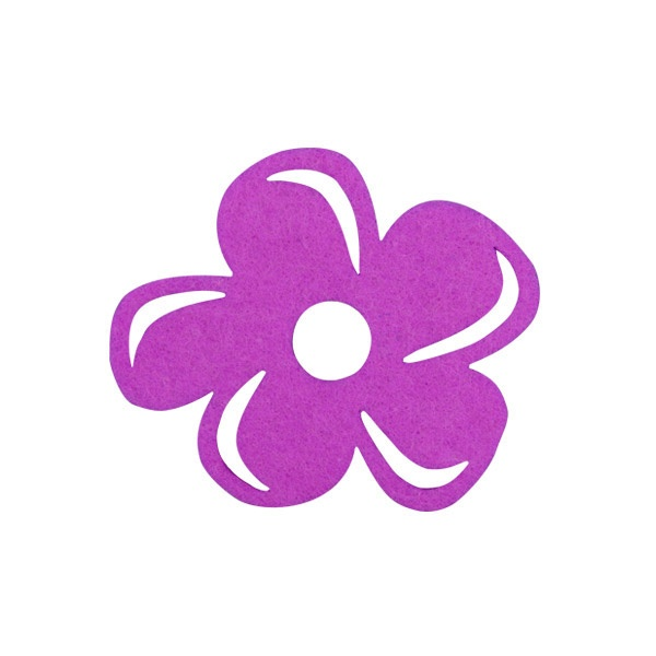 Деко фигурка цвете с извивки, филц Деко фигурка цвете с извивки, филц, 80 mm, виолетово