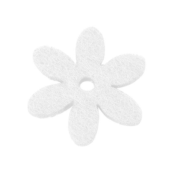 Деко фигурка цвете с отвор, филц Деко фигурка цвете с отвор, филц, 25 mm, бяло