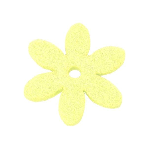 Деко фигурка цвете с отвор, филц Деко фигурка цвете с отвор, филц, 25 mm, кремаво