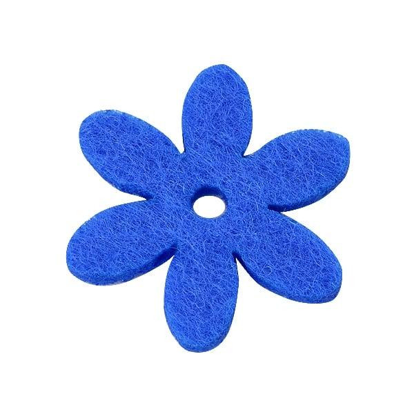 Деко фигурка цвете с отвор, филц Деко фигурка цвете с отвор, филц, 25 mm, лилаво
