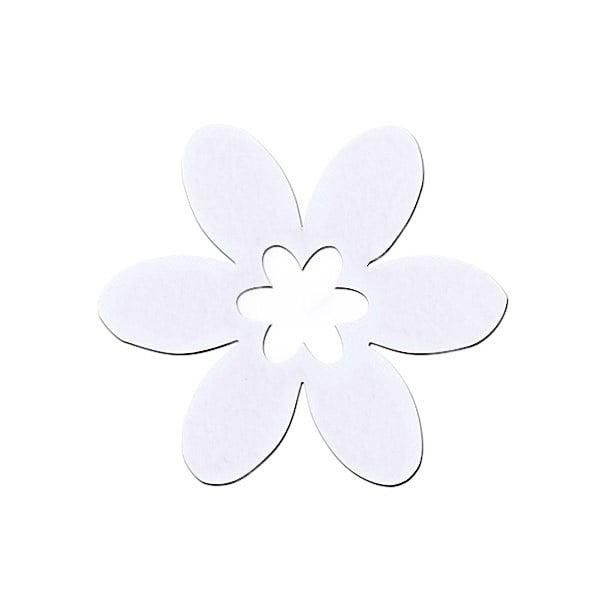 Деко фигурка цвете в цвете, филц Деко фигурка цвете в цвете, филц, 30 mm, бяло