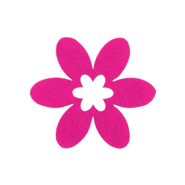 Деко фигурка цвете в цвете, филц Деко фигурка цвете в цвете, филц, 30 mm, прасковено