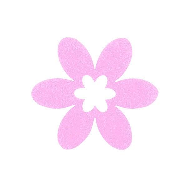Деко фигурка цвете в цвете, филц Деко фигурка цвете в цвете, филц, 30 mm, розово