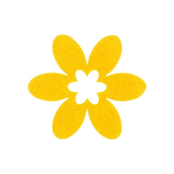Деко фигурка цвете в цвете, филц Деко фигурка цвете в цвете, филц, 30 mm, светло жълто