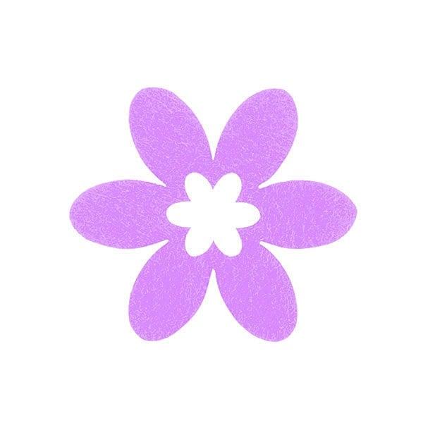 Деко фигурка цвете в цвете, филц Деко фигурка цвете в цвете, филц, 30 mm, виолетово