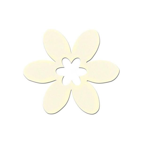 Деко фигурка цвете в цвете, филц Деко фигурка цвете в цвете, филц, 40 mm, кремаво