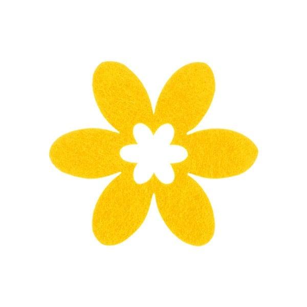 Деко фигурка цвете в цвете, филц Деко фигурка цвете в цвете, филц, 40 mm, светло жълто
