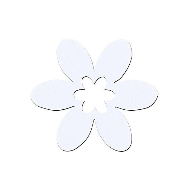 Деко фигурка цвете в цвете, филц Деко фигурка цвете в цвете, филц, 45 mm, бяло