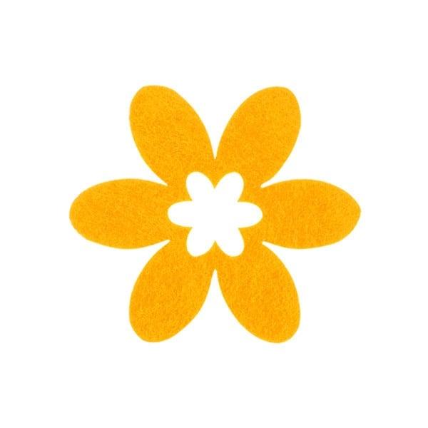 Деко фигурка цвете в цвете, филц Деко фигурка цвете в цвете, филц, 45 mm, жълто