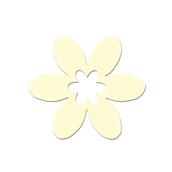 Деко фигурка цвете в цвете, филц Деко фигурка цвете в цвете, филц, 45 mm, кремаво