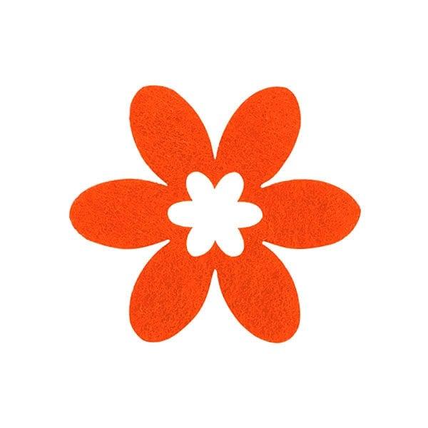 Деко фигурка цвете в цвете, филц Деко фигурка цвете в цвете, филц, 45 mm, оранжево