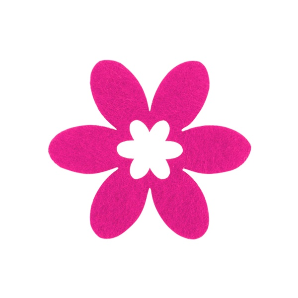 Деко фигурка цвете в цвете, филц Деко фигурка цвете в цвете, филц, 45 mm, прасковено
