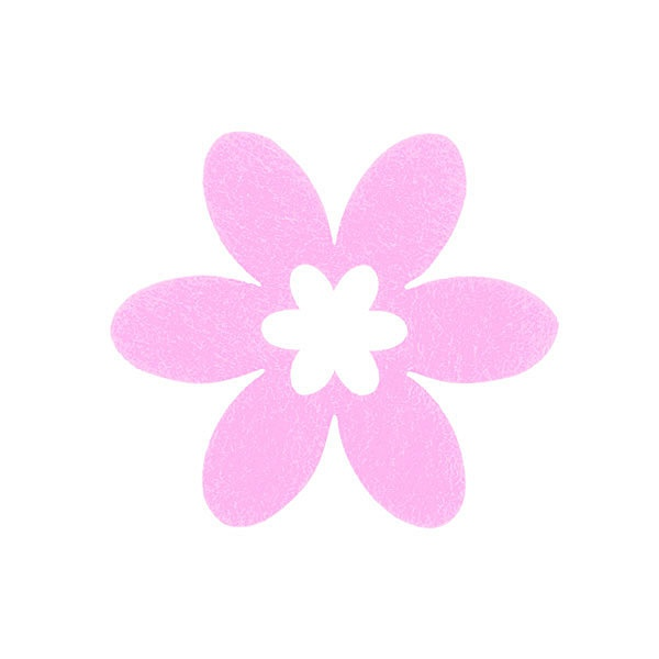 Деко фигурка цвете в цвете, филц Деко фигурка цвете в цвете, филц, 45 mm, розово