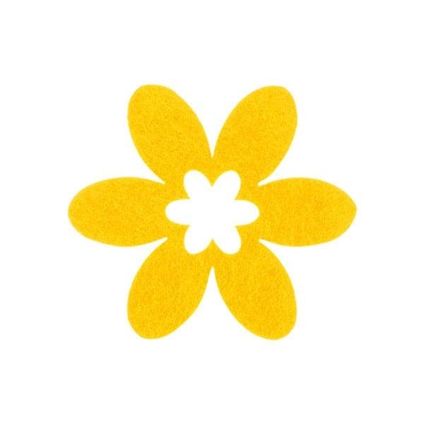 Деко фигурка цвете в цвете, филц Деко фигурка цвете в цвете, филц, 45 mm, светло жълто