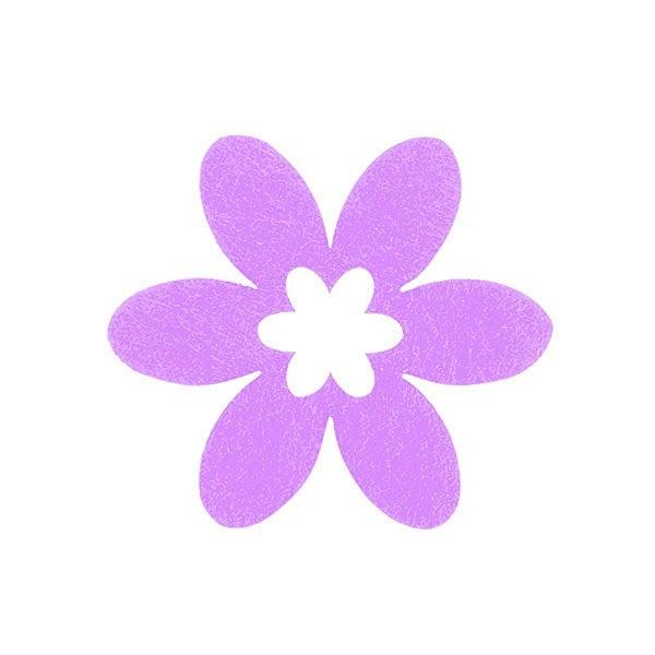 Деко фигурка цвете в цвете, филц Деко фигурка цвете в цвете, филц, 45 mm, виолетово