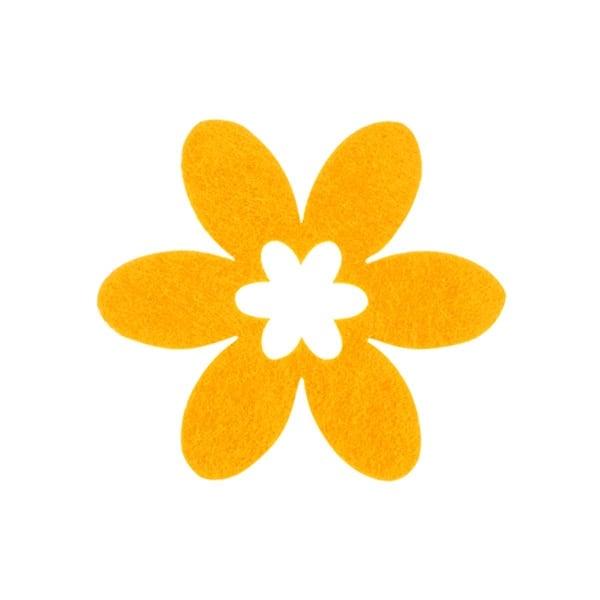 Деко фигурка цвете в цвете, филц Деко фигурка цвете в цвете, филц, 55 mm, жълто