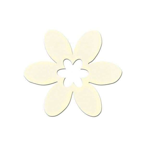 Деко фигурка цвете в цвете, филц Деко фигурка цвете в цвете, филц, 55 mm, кремаво