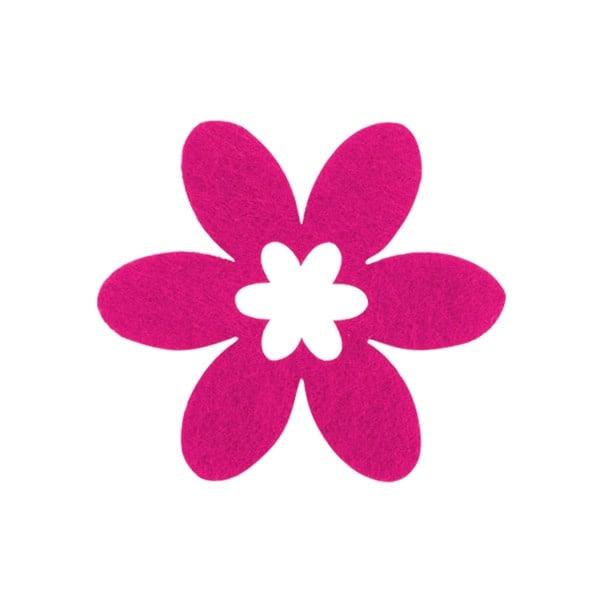 Деко фигурка цвете в цвете, филц Деко фигурка цвете в цвете, филц, 55 mm, прасковено