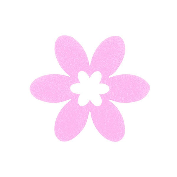 Деко фигурка цвете в цвете, филц Деко фигурка цвете в цвете, филц, 55 mm, розово