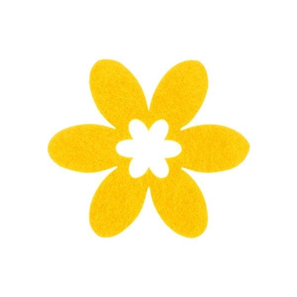 Деко фигурка цвете в цвете, филц Деко фигурка цвете в цвете, филц, 55 mm, светло жълто
