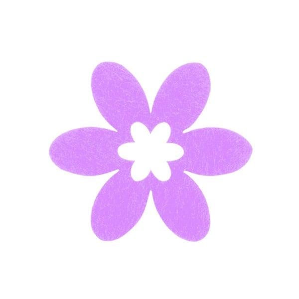 Деко фигурка цвете в цвете, филц Деко фигурка цвете в цвете, филц, 55 mm, виолетово