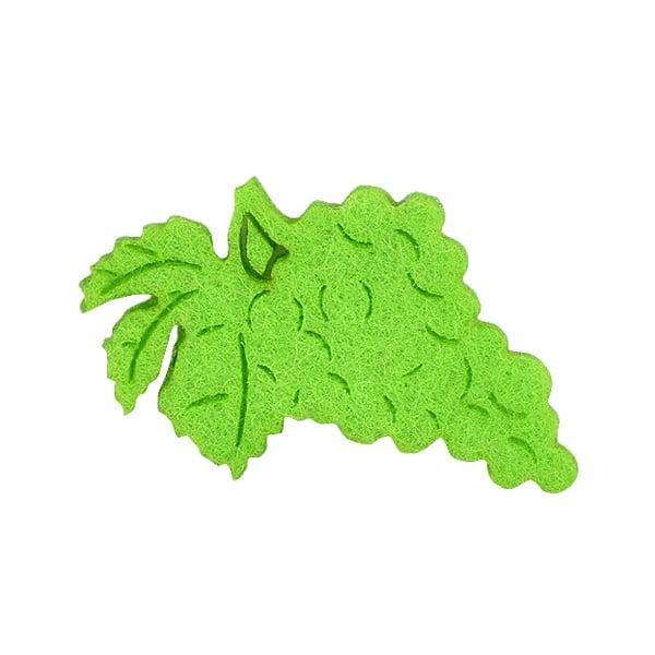 Деко фигурка грозде, Filz, тревно зелено Деко фигурка грозде, Filz. 40 mm, тревно зелено